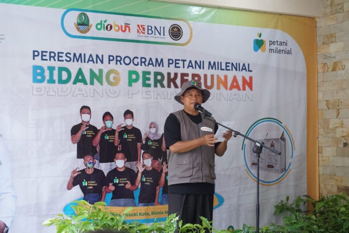 Launching Petani Milenial di Kabupaten Garut oleh Wakil Gubernur Jawa Barat, Uu Ruzhanul Ulum di Mahkota Java Coffee, Jl. Bayongbong, Kecamatan Bayongbong, Kabupaten Garut, Selasa (31/8/2021) (Foto: DG)